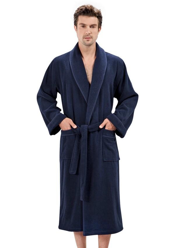 Халаты мужские LORD  ЛОРД махровый мужской халат SOFT COTTON (Турция) lord_sinii.jpg
