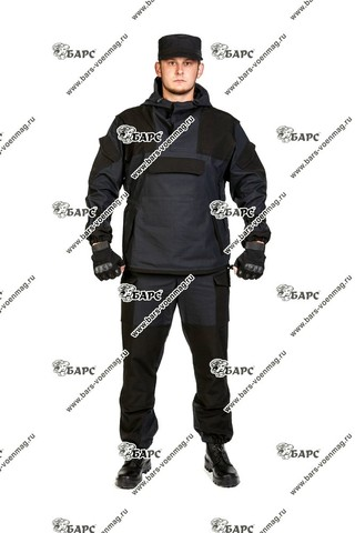 Камуфляжный костюм «Горка-4» Черный. Фото 1