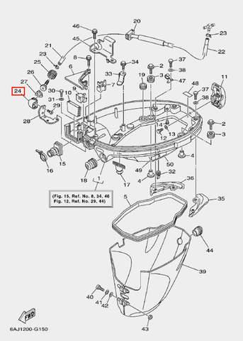 Коннектор для лодочного мотора F20 Sea-PRO (15-24)