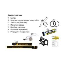 Налобный фонарь Armytek Wizard Magnet USB XP-L v3, светодиодный, теплый свет
