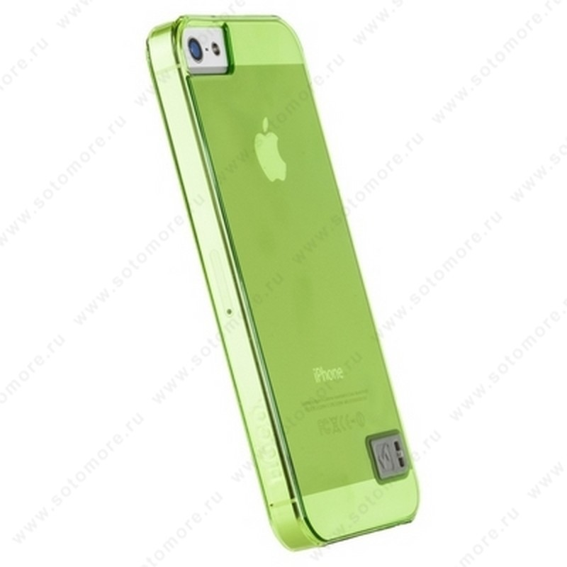 Накладка HOCO для iPhone SE/ 5s/ 5C/ 5 - HOCO Crystal Colorful protective case Tran-green