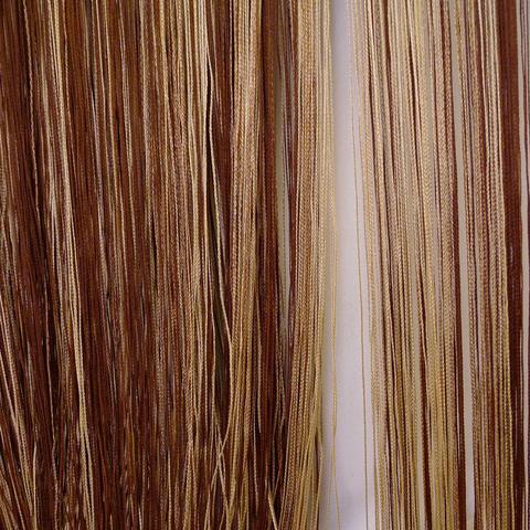 Кисея радуга облегченная коричневая-бежевая. Арт.127
