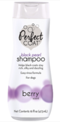 8in1 шампунь-кондиционер для собак PC Black Pearl для темных окрасов с ароматом бойзен-ягоды