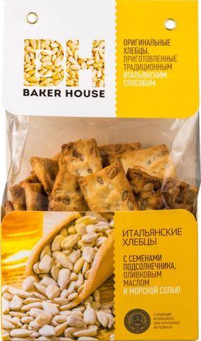 Хлебцы итальянские с семенами подсолнечника Baker House, 250г