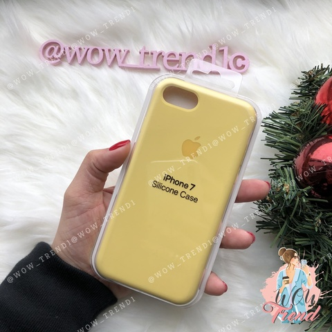 Чехол iPhone 7/8 Silicone Case /yellow/ желтый original quality