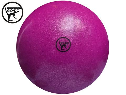 Мяч GO DO для художественной гимнастики. Диаметр 19 см. Цвет розовый имитация