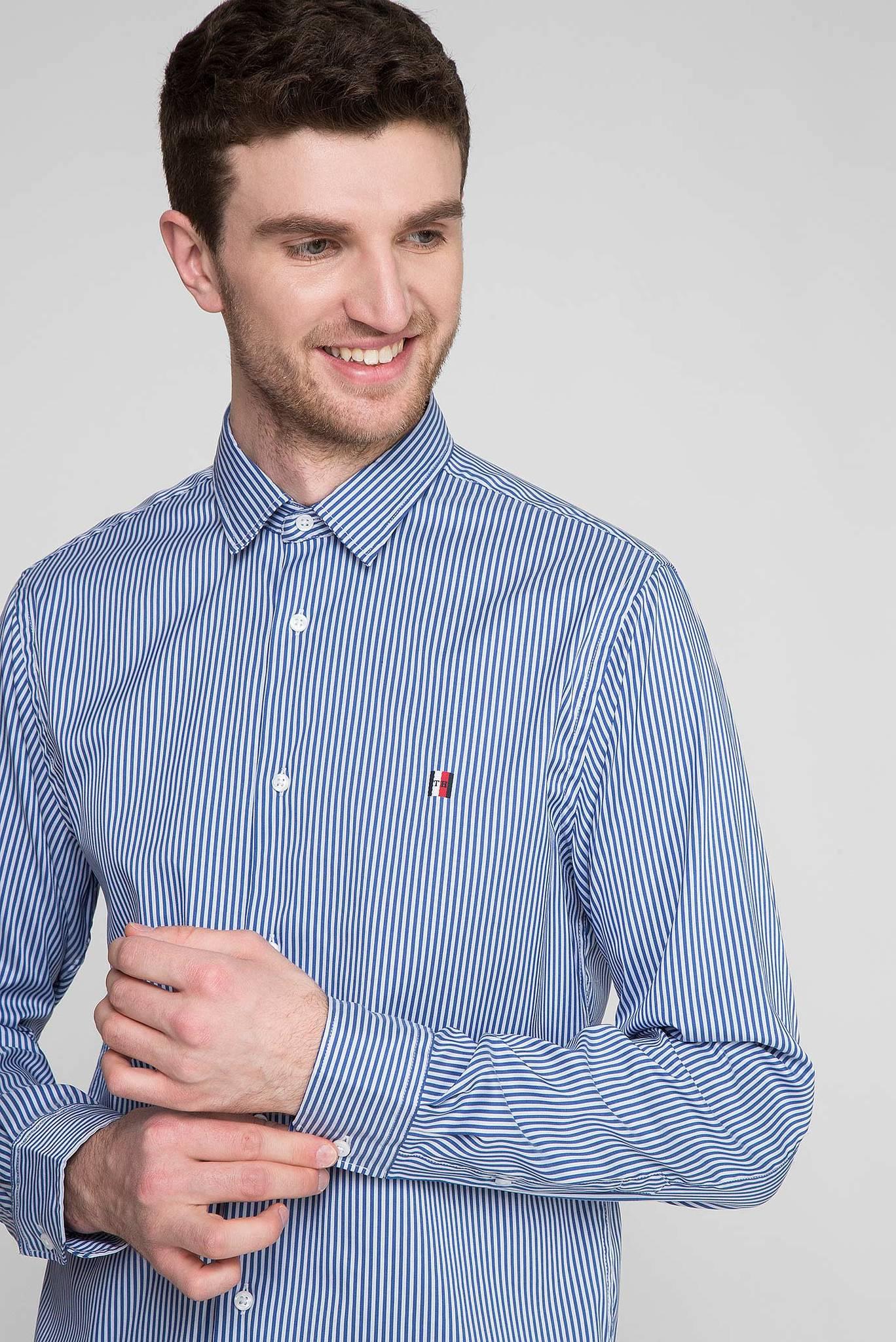 Мужская синяя рубашка в полоску MODERN ESSENTIAL STRIPED Tommy Hilfiger