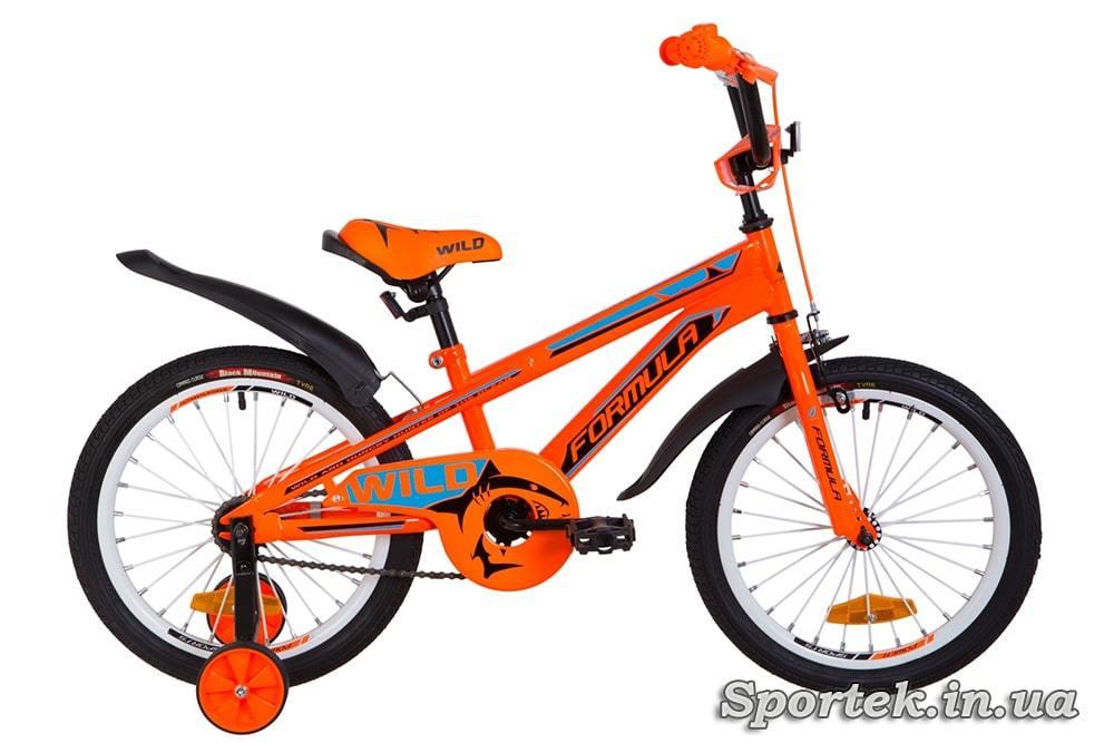 Детский велосипед Formula Wild - оранжево-синий