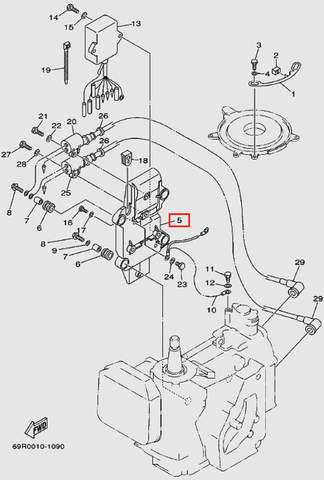 Кронштейн коммутатора для лодочного мотора Т30 Sea-PRO (9-5)