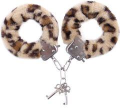 Наручники с леопардовым принтом на опушке