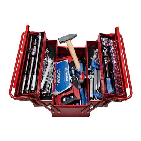 KING TONY (902-089MR01) Набор инструментов универсальный, раскладной ящик, 88 предметов