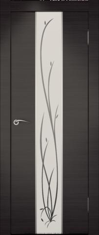 Дверь Zadoor Гранд (зеркало с рисунком), цвет венге, зеркало