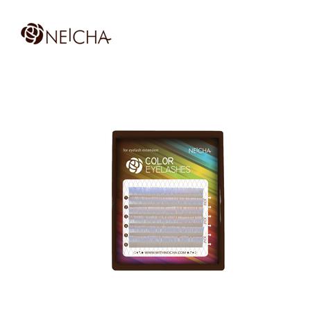 Ресницы NEICHA нейша цветные 6 линий MIX белый