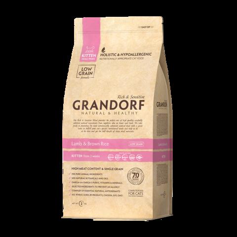 Grandorf Lamb & Rice Kitten Сухой корм для котят Ягненок с рисом низкозерновой