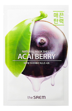 Тканевые маски Тканевая маска с асаи, The SAEM, Natural Acai Berry Mask Sheet, 21мл 1__4_.jpg