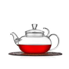 """Заварочный чайник """"Клюква"""" 600 мл, стеклянный с фильтром в носике"""