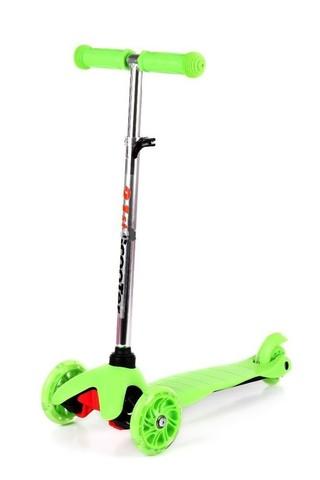 Самокат детский Scooter  Mini со светящимися колесами от 1,5 до 3 х лет (Салатовый).