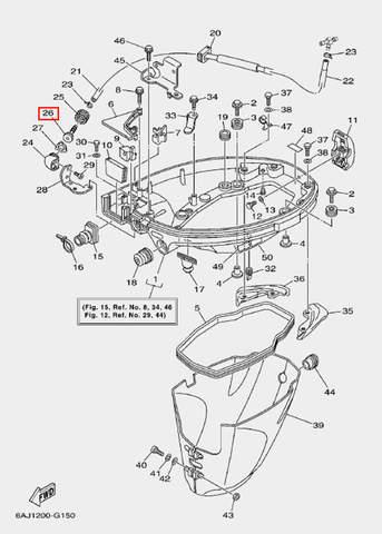 Соединитель трубки для лодочного мотора F20 Sea-PRO (15-26)