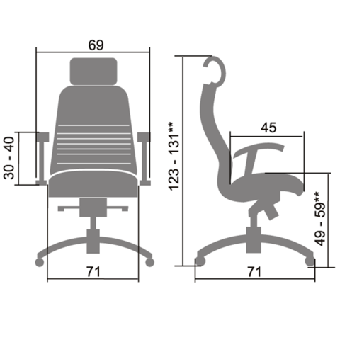 Samurai KL-3.03 Кресло руководителя (Метта)
