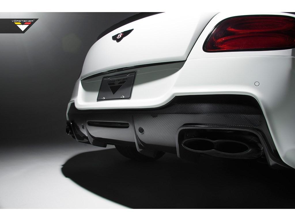 Карбоновый диффузор заднего бампера Vorsteiner Style для Bentley Continental