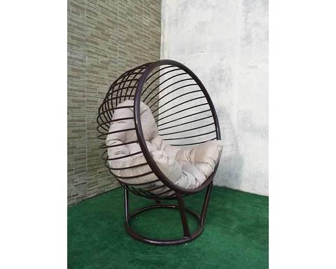 Кресло лофт Малибу коричневое