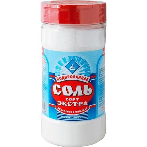 Соль экстра йодированная  500гр