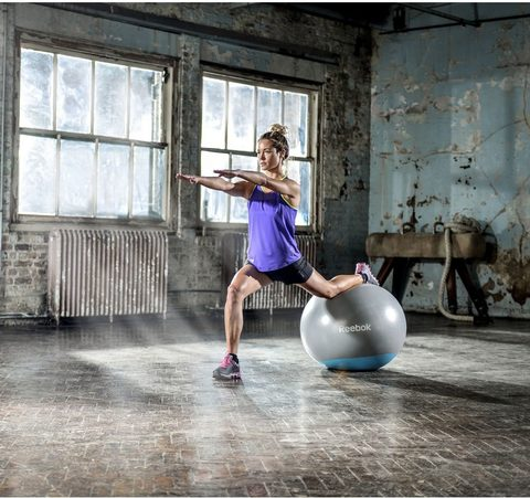RAB-40015BL Гимнастический мяч  Gymball (two tone) - 55cm