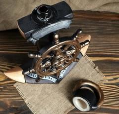 Штоф с рюмками «Якорь», 7 предметов, фото 3