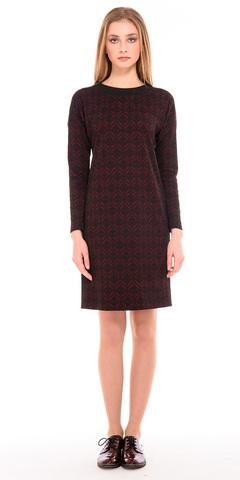 Фото бордовое платье кэжуал из полиэстера с оригинальным принтом - Платье З234а-674 (1)