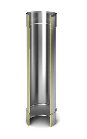 Модуль дымохода Ø140, 0,5м, 0,5мм