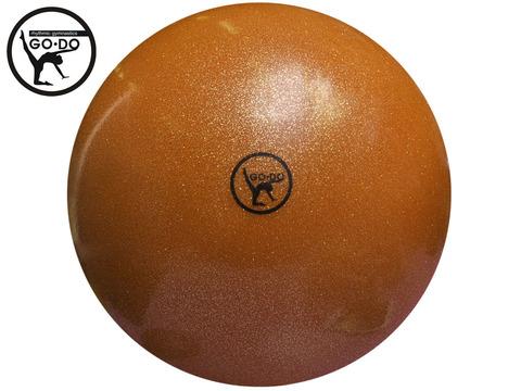 Мяч GO DO для художественной гимнастики. Диаметр 19 см. Цвет оранжевый имитация