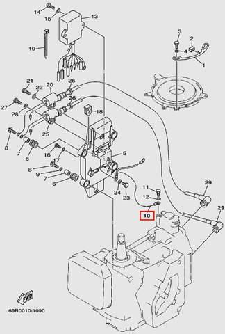 Заземление для лодочного мотора Т30 Sea-PRO (9-10)