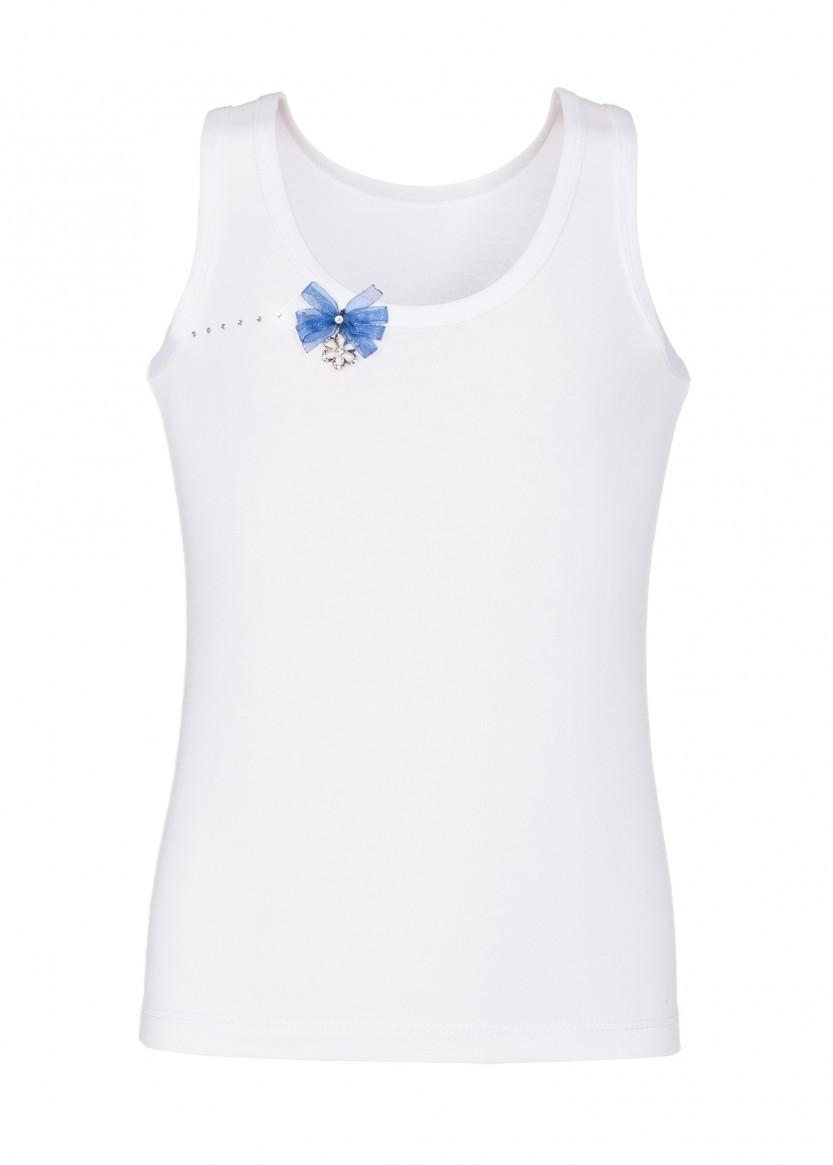 Майка LARMINI LR-U-C-160907-B-3FO-PFS, цвет белый/темно-синий