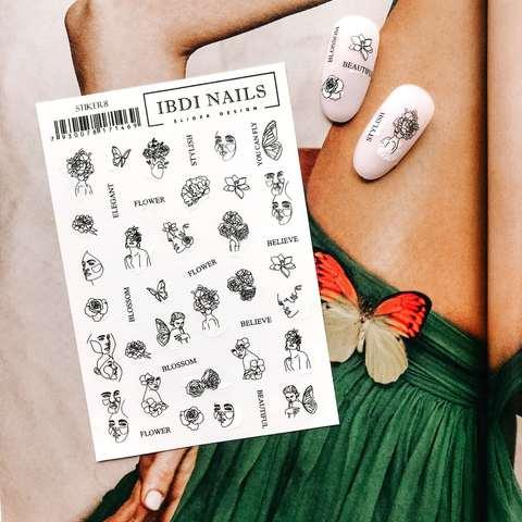 Stiker наклейка ibdi nails 08