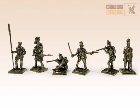 набор солдатиков Британская армия периода Крымской Войны - 1853-56 г. 6 шт.
