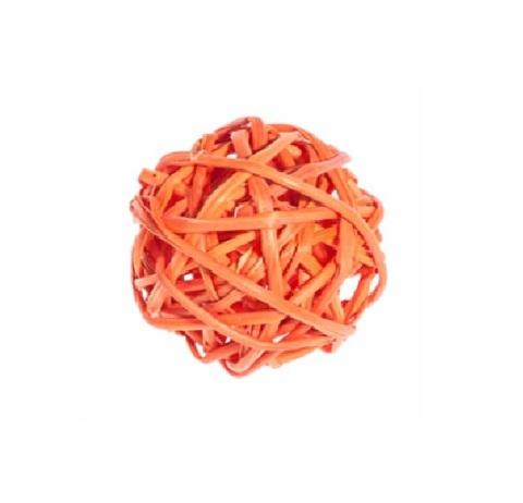 Плетеные шары из ротанга (набор:12 шт., d3см, цвет: оранжевый)