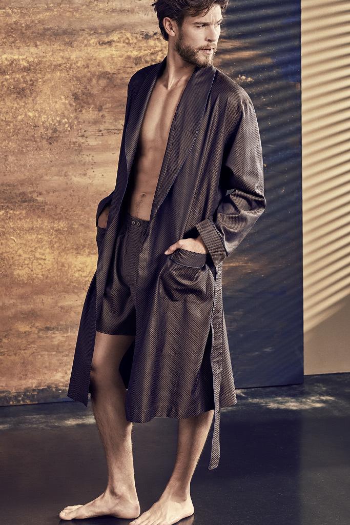 Мужской халат с жаккардовым рисунком Zimmerli