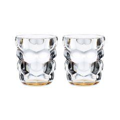 Набор из 2 стаканов для воды с оранжевым донышком Bubbles, 330 мл, фото 3