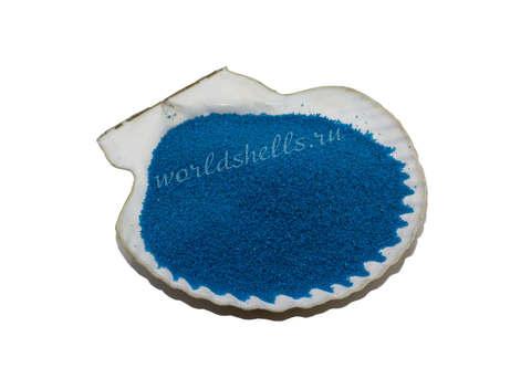 Синий песок для декора