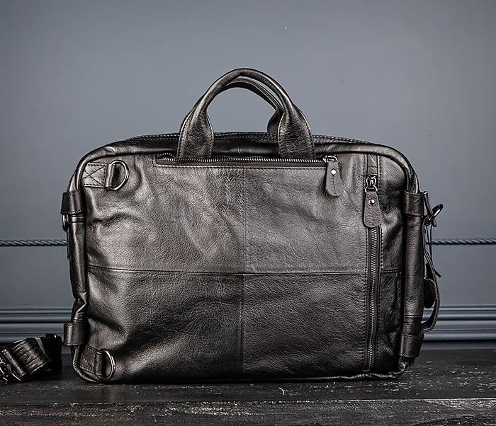 BAG512-1 Портфель рюкзак трансформер из натуральной кожи фото 05