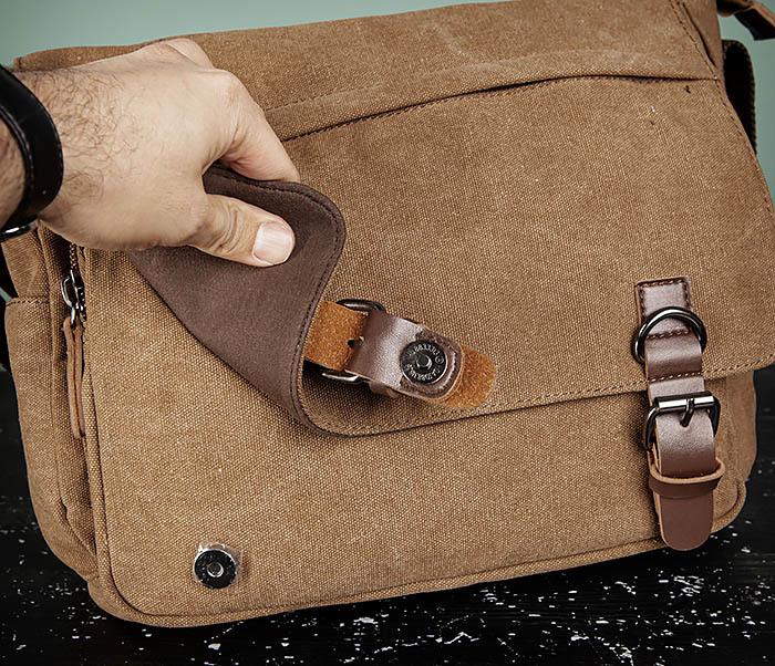 BAG504-2 Мужской портфель из ткани коричневого цвета фото 10