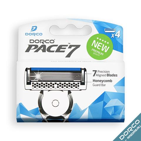 Dorco Pace 7 Сменные кассеты для бритья с 7 лезвиями 4шт.