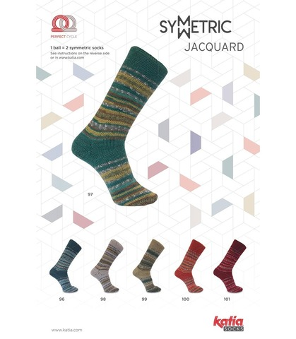 Katia Jacquard Socks - 101