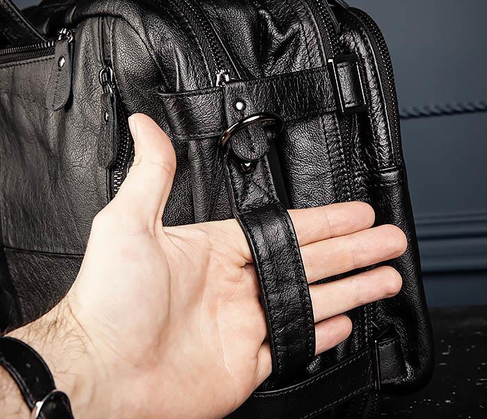 BAG512-1 Портфель рюкзак трансформер из натуральной кожи фото 07