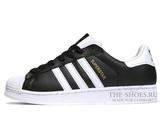 Кроссовки Мужские Adidas SuperStar Black White