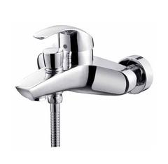 Смеситель для ванны и душа Kaiser (Кайзер) Nova 23022 однорычажный с лейкой и шлангом, настенное крепление, хром