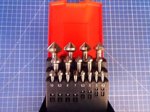 Набор зенковок 90° 4,3-25мм DIN335C 3z HSSE-Co5 17шт Bucovice(CzTool) 796807