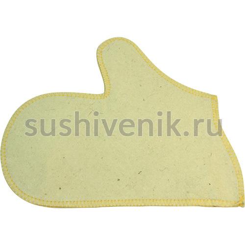 Рукавица Холи (желтая окантовка)