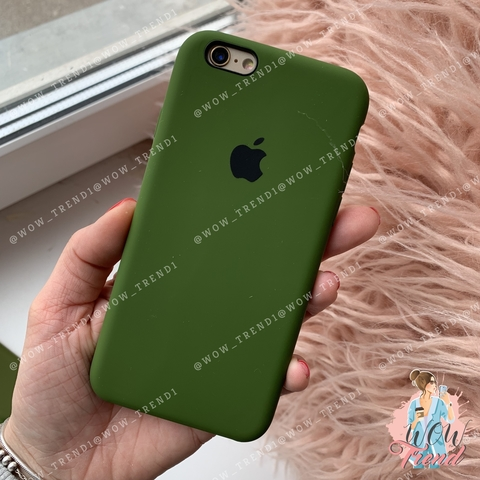 Чехол iPhone 6/6s Silicone Case /olive/ оливка 1:1