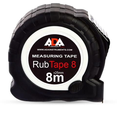 Рулетка ADA RubTape 8 8м x 25мм с фиксатором